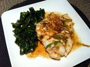Cod-fish with Sautied Local Greens