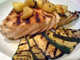 Fish with courgettes
