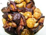 Stewed mushrooms with chestnuts