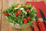 Salad with raw wild greens